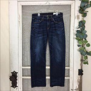 rag & bone Dark Wash Crop Straight Leg Jeans 27